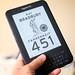 Small photo of Fahrenheit 451 e-book on the Kindle