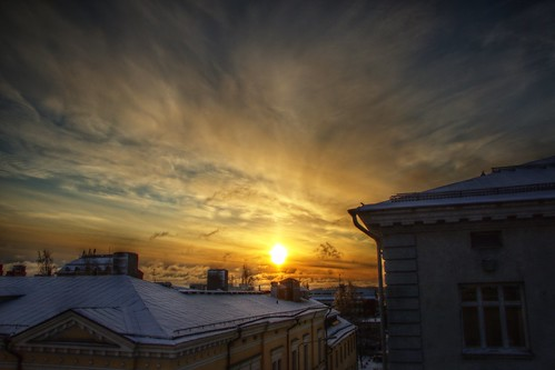 winter sunrise finland fi hdr kuopio