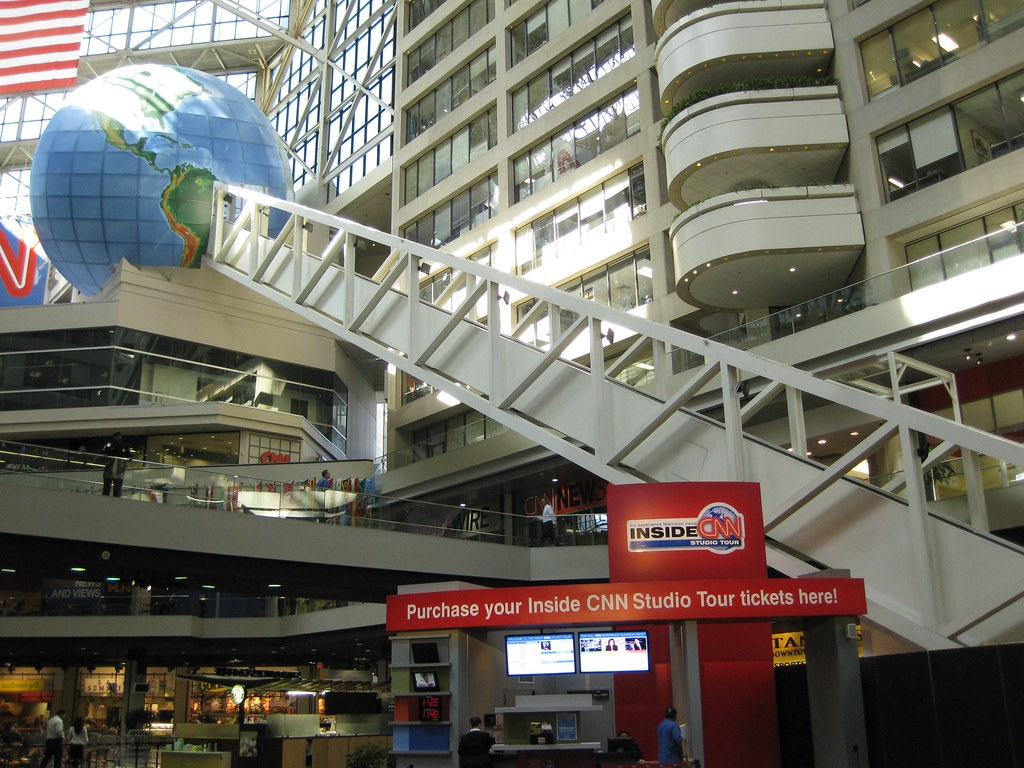 Inside CNN Tour Escalator