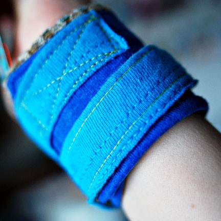 recycled t-shirt cuff