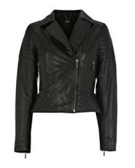oasis leather jacket with quilting