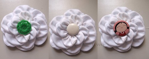 Fabric Flower Tutorial Step 9