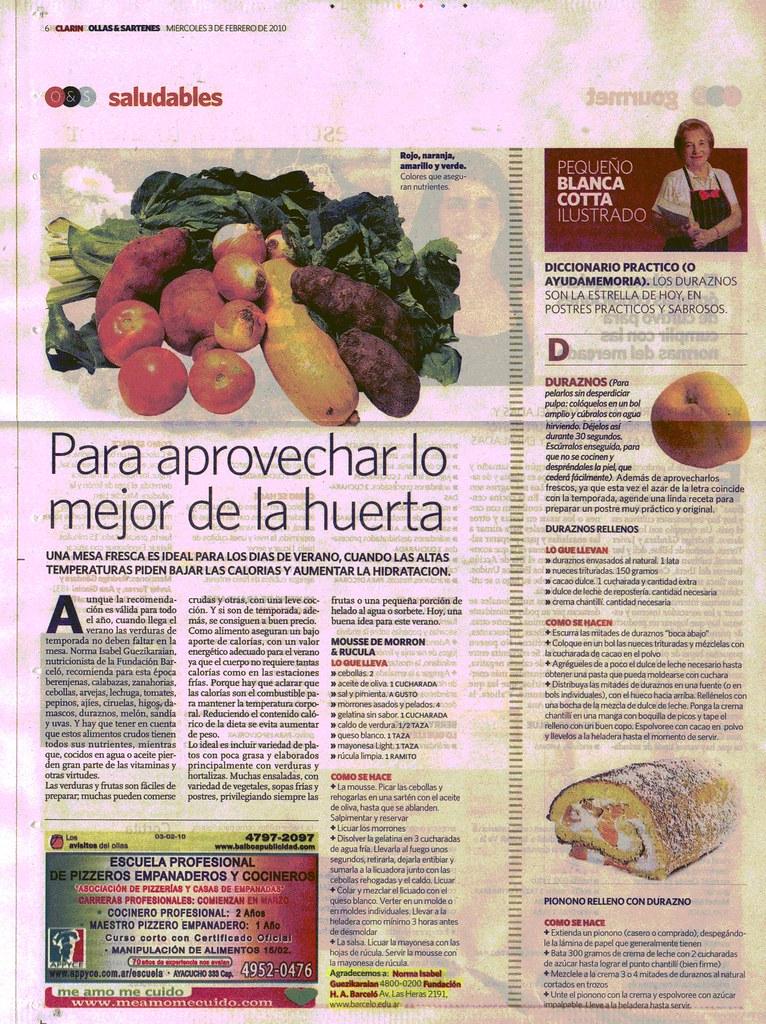 Diario Clar°n - Nota 03-02-10
