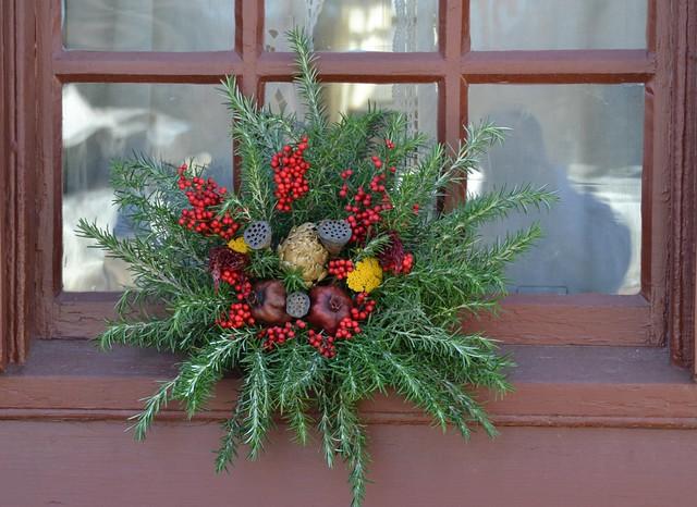 Christmas Window Wreath Flickr Photo Sharing