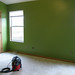 master bedroom - painted Kona Grass Green