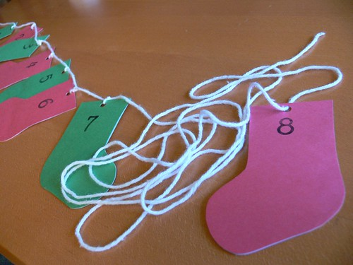 Jenny: Stocking Advent Garland Kid Craft