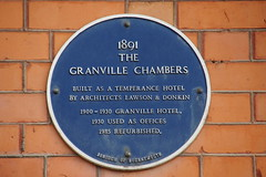 Photo of The Granville Chambers and James Brine blue plaque