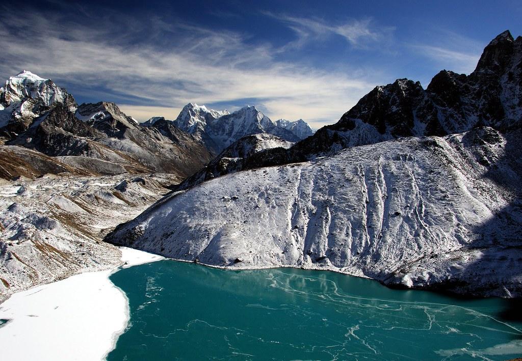 Green ice of Dudh Pokhari
