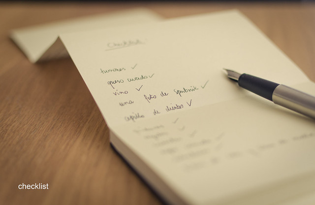 69/366: checklist