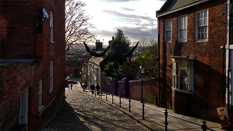 Halfway up Steep Hill