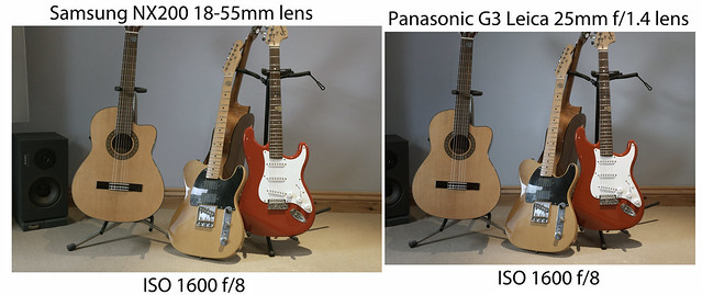 NX200 / G3 comparison - ISO 1600