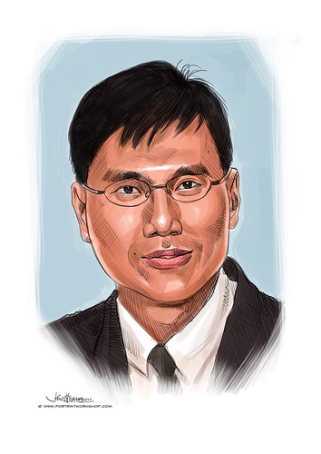 digital portrait of Tan Ming Kirk, Richard