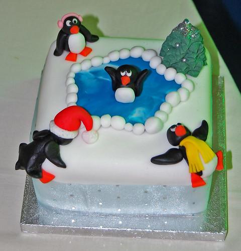 Penguin Fun Christmas Cake Beautiful Birthday Cakes