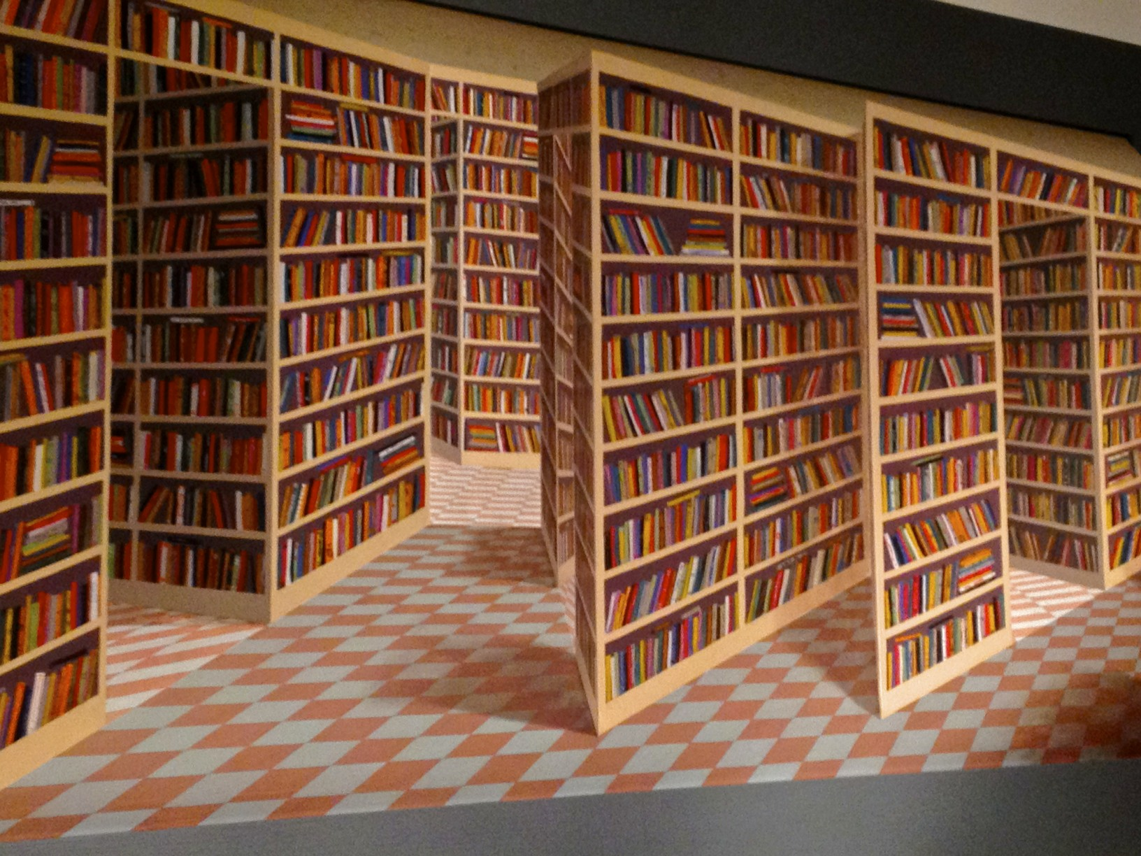 3D painting, British Library | Walk past this and it looks ...