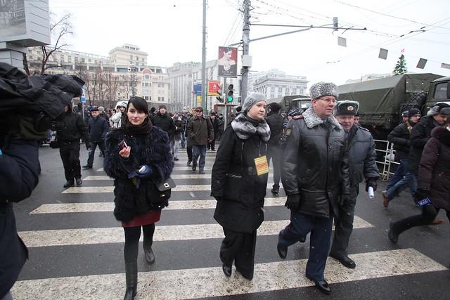 Тина Канделаки на митинге