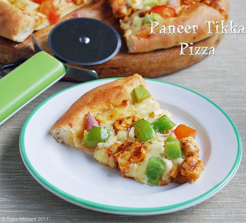 Paneer-tikka-pizza