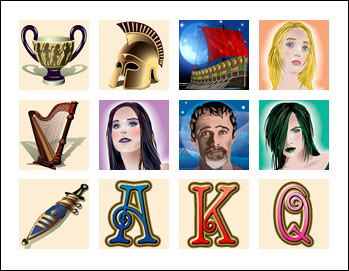 free Sirens slot game symbols