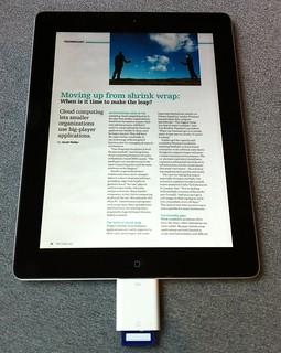 iPad With Document On An SD Card