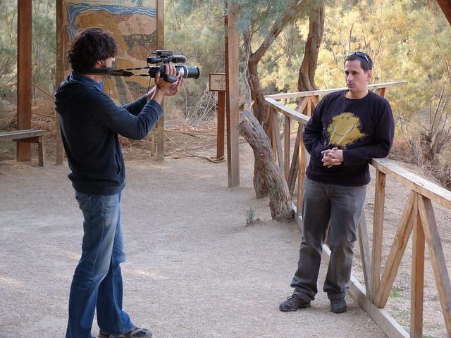 Sele y Albert rodando en Betania