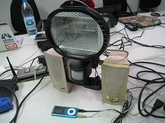 The Bisou lighting unit prototype