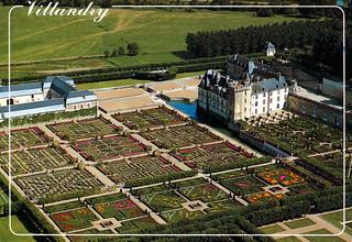 Villandry - Château and Gardens from Air (Postcard)