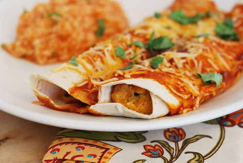 Butternut Squash and Black Bean Enchiladas - Fake Ginger