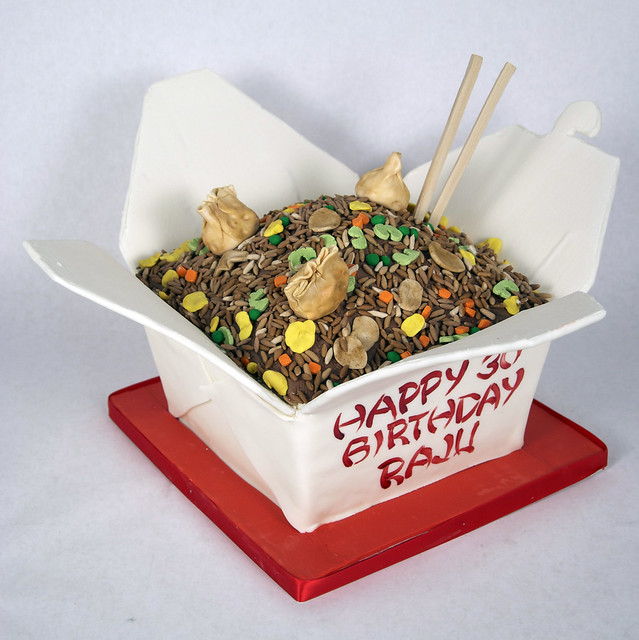 chinese take out box cake toronto