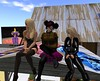 Medea, me, and Su on the shed roof by Nyssa Ilwicht