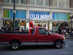 Santa Rides a Truck