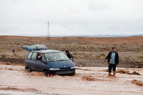 Maroc 2011 - Oued en crue - Près de Ouarzazate