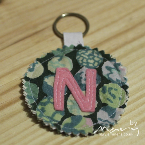 Personalised key ring - N