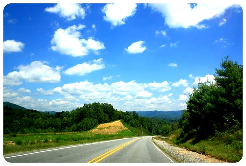 north carolina road & clouds
