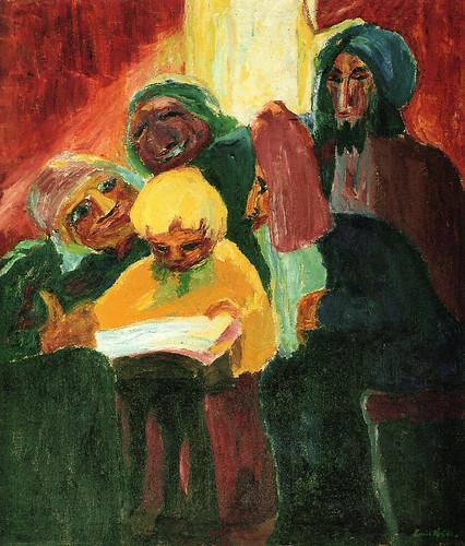 [ N ] Emil Nolde - Jesus parmi les docteurs (1912) by Cea.