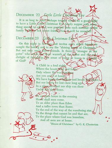 The Festival of Christmas: December 23, Little Christmas Eve