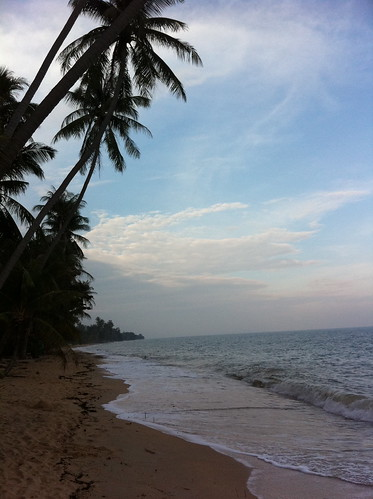 Beach in front of our villa on Koh Samui