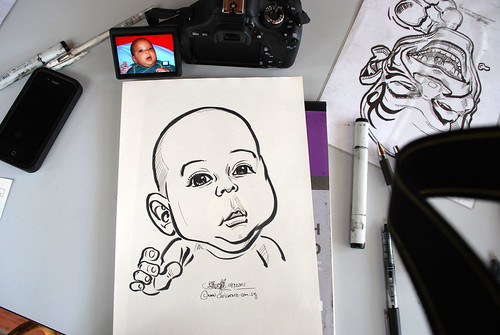 caricature live sketching for children birthday party 08 Oct 2011 - 18