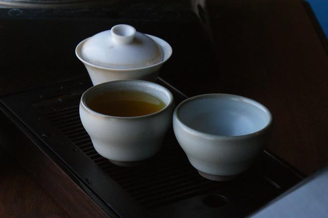 Celadon Cup Pair