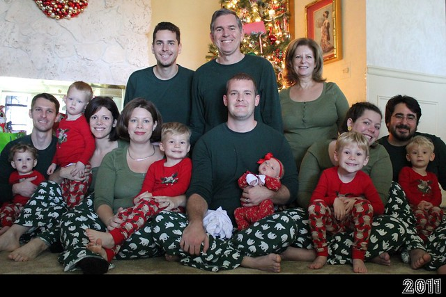 Christmas Morning Family Picture