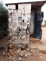 Old pit latrine