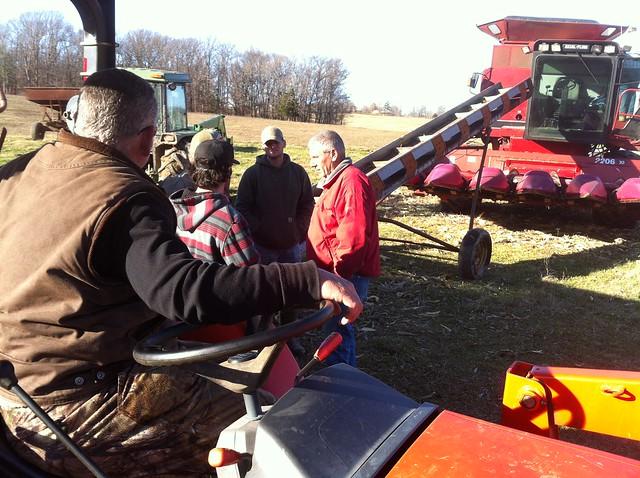 corn shelling