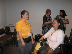 Tina Minkowitz and Heba Hagrass
