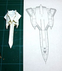 Paper Sr71 1 Photos | SR-71 Blackbird origami under construction | 003
