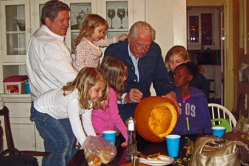 Papa Great Carves a Pumpkin