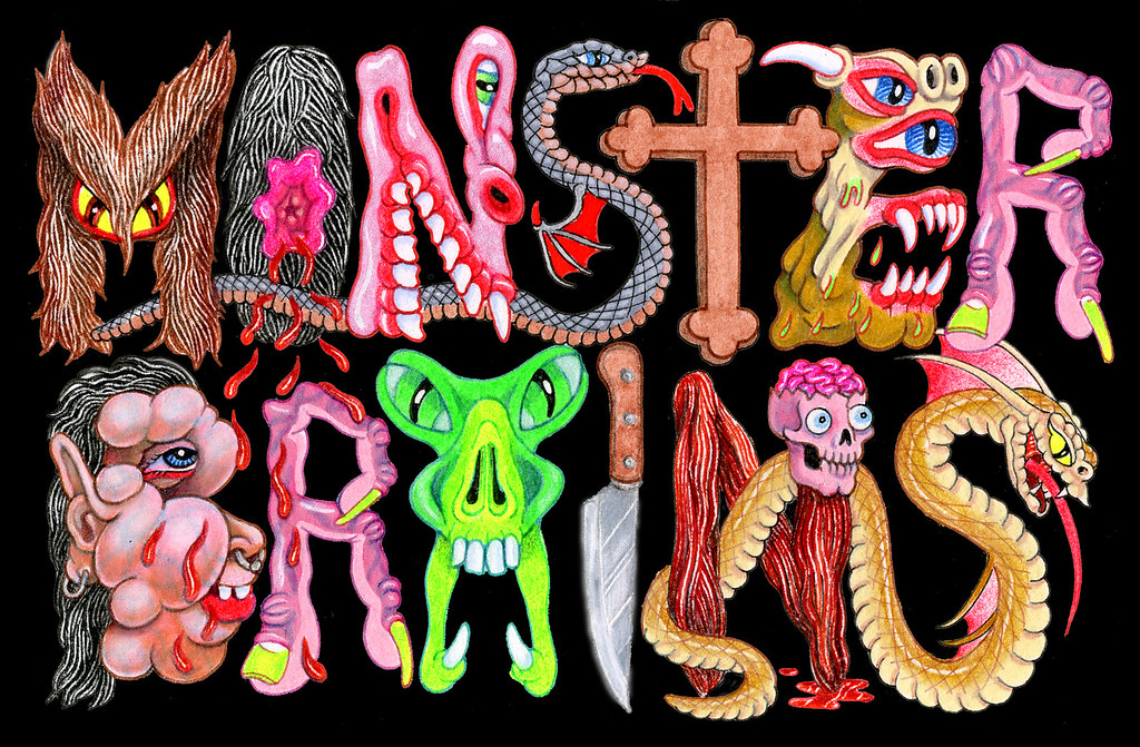 Matt Furie - Monster Brains Logo 1