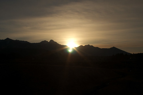 Sunrise on January 1, 2012
