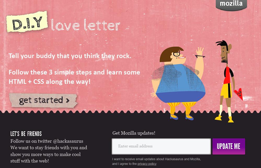 d.i.y love letter