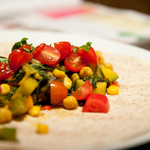 chickpea veggie wraps with sri racha