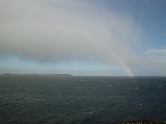 rainbow starts off the weekend - from my deck