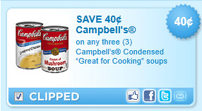 Campbells Condensed Great For Cooking Soups Coupon