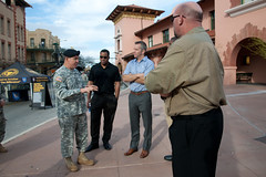 NBC broadcast crew visits RDECOM at Army Strong Zone
